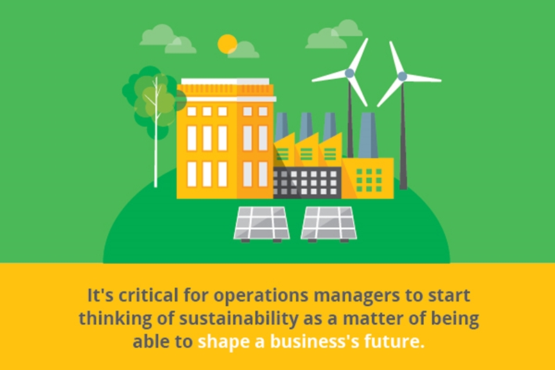 Future-minded operations managers need to consider their sustainability efforts.